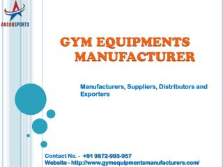 Gym Equip[ments Manufacturers - Manufacturers, Suppliers, Distributors and Exporters in Inda