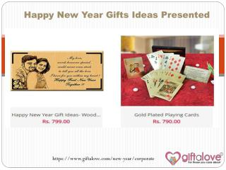 Happy New Year Gifts Ideas Presented
