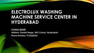 Electrolux washing machine service center in Hyderabad