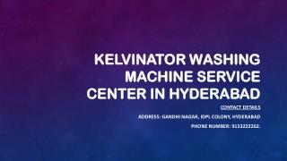 Kelvinator Washing machine Service center in Hyderabad