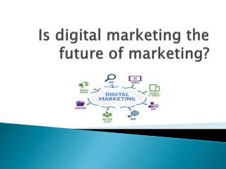 Is digital marketing the future of marketing?