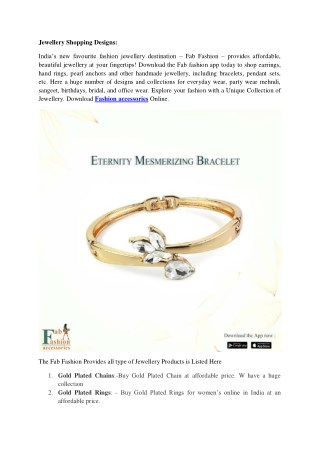 Online Artificial Jewellery Shopping