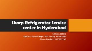 Sharp Refrigerator Service center in Hyderabad
