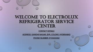 Electrolux Refrigerator Service center in hyderabad