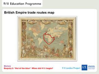 British Empire trade routes map