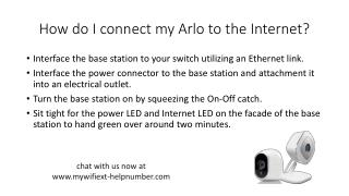 How do I connect my Arlo to the Internet?