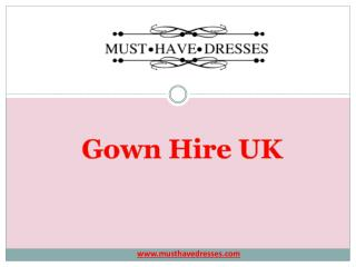 Gown Hire UK