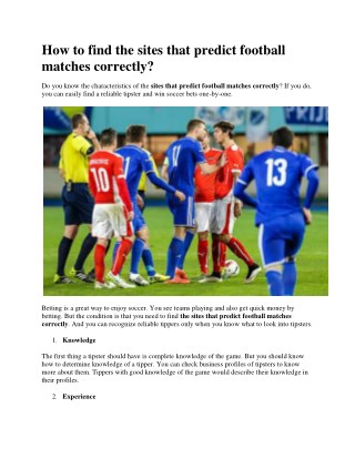How-to-find-the-sites-that-predict-football-matches-correctly