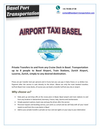 Airport Taxi Basel