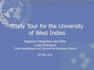 Study Tour for the University of West Indies