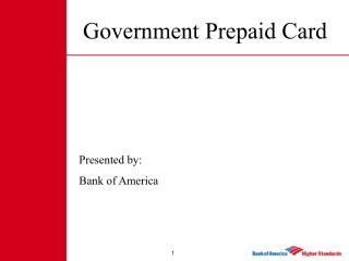 Government Prepaid Card
