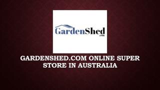 Small Garden Sheds, Absco Sheds, Bike Sheds | Gardenshed.com