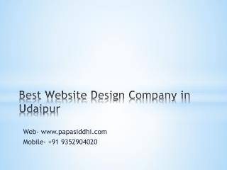 Best website design company in udaipur