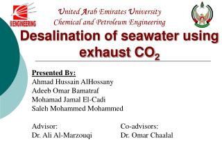 United Arab Emirates University Chemical and Petroleum Engineering