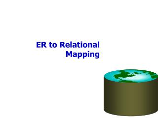 ER to Relational Mapping
