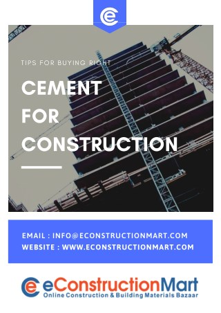 Tips for buying right Cement for Construction