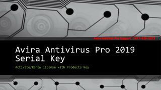 Avira Antivirus activation product key