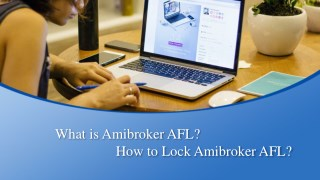 How to Lock Amibroker AFL?