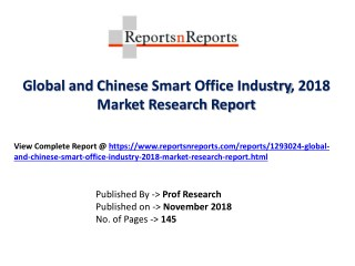 Global Smart Office Industry with a focus on the Chinese Market