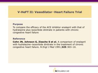 V-HeFT II: Vasodilator – Heart Failure Trial