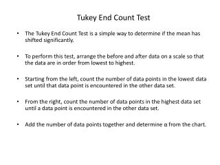 Tukey End Count Test