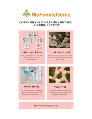 Create Your Own Family Tree Online-My Family Gems