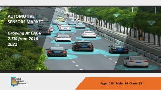 "Automotive Sensors Market is Moving towards Futurist's ""Sensors and New"" Vision"