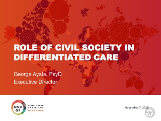 Role of Civil Society in differentiated care