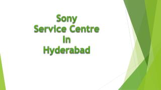 Sony Service Centre in Hyderabad
