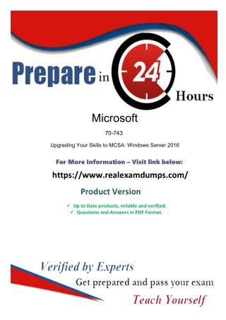 Download Exact Microsoft 70-743 Exam Study Guide - Microsoft 70-743 Exam Dumps