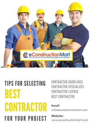 Tips for Selecting Best Contractor for your Project