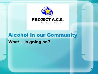 Alcohol in our Community