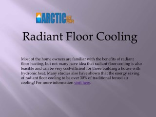 Top Quality Radiant Floor Cooling