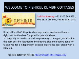 Kumbh Mela Bookings Packages 2019 - Rishikul Kumbh Cottages