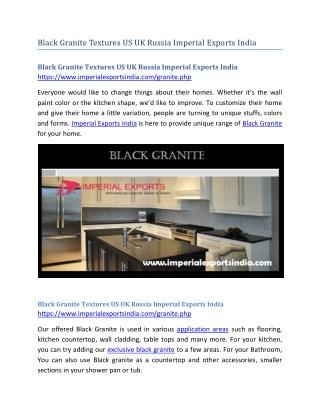 Black Granite Textures US UK Russia Imperial Exports India