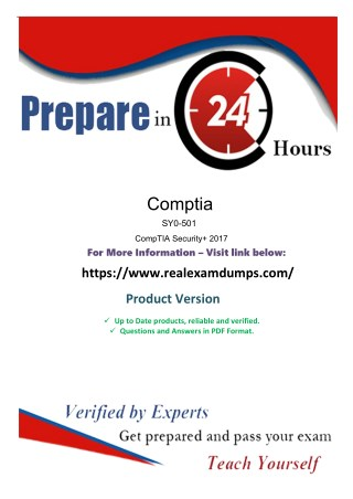 SY0-501 Exam with Valid CompTIA SY0-501 Exam Question Answers - Realexamdumps.com