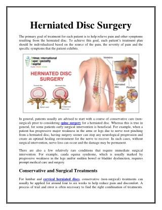 Best herniated disc surgery hospital in Nigeria