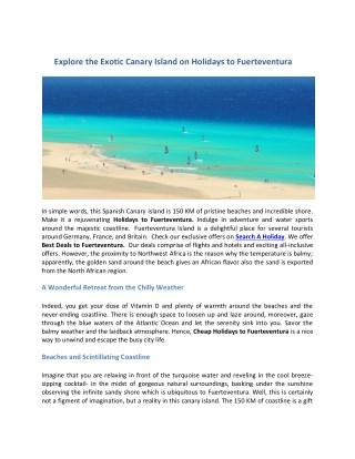 Cheap Holidays to Fuerteventura 2019/2020   Fuerteventura Holidays