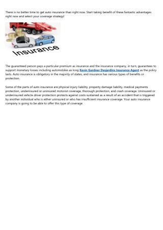 The Advantages of Auto Insurance