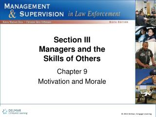 Section III Managers and the Skills of Others