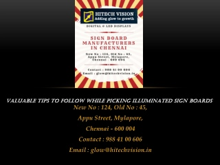 Valuable Tips to Follow While Picking Illuminated Sign Boards