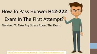 H12-222 Test Questiosn