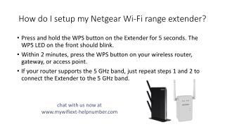 How do I setup my Netgear Wi-Fi range extender?