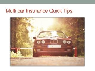 Mutli Car Insurance Quick Tips