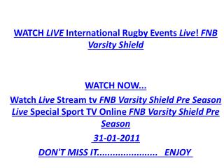 STREAM FREELIVE Ufh Blues Vs Wits International Rugby Events