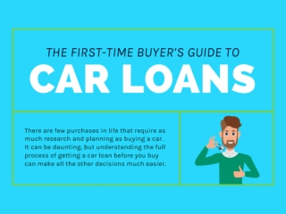 First-Time Buyer's Guide to Car Loans