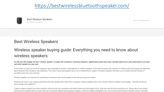 Best Wireless Speakers 2019
