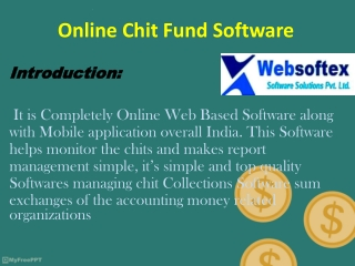 Online Chit Fund Software by Websoftex