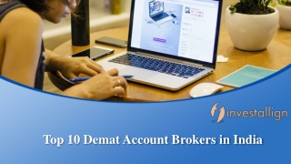 Top 10 Demat Account Brokers in India 2019 Updated List - Investallign