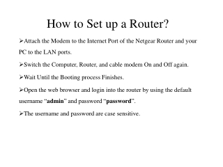 How to Set up a Router?